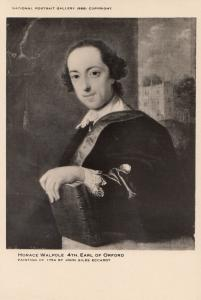 Horace Walpole 4th Earl Of Oxford Portrait Gallery Painting Postcard