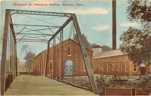 F36/ Mantua Ohio Postcard 1911 Standard Oil Pumping Station