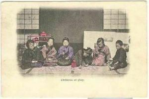 pc4367 postcard Children at Play Postally used 1904 Chinese