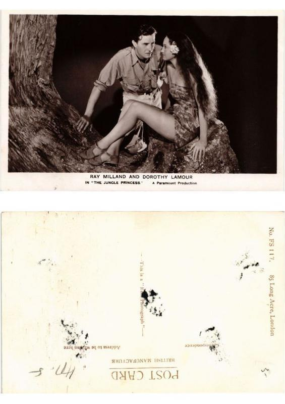 CPA Dorothy Lamour and Ray Milland in the Jungle Princess FILM STAR (554043)