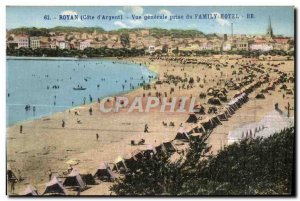 Old Postcard Royan General View from the Family Hotel