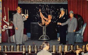 Las Vegas NV The New Frontier Silver Slipper Theatre Beautiful Woman postcard.