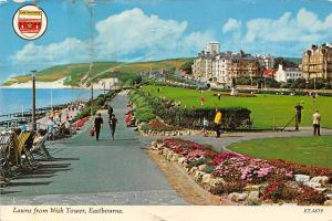 Lawns from Wish Tower, Eastbourne, promenade