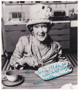 Kathleen Harrison Mrs Huggett Scrooge Oliver Twist Hand Signed Photo