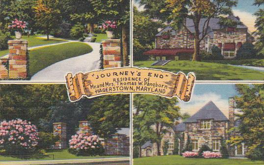 Maryland Hagerstown Journey's End Residence Of Mr and Mrs Thomas W Pangborn M...