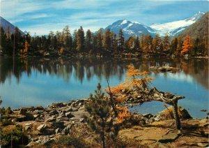 Switzerland Lago Saoseo Piz Palu mountain view Postcard
