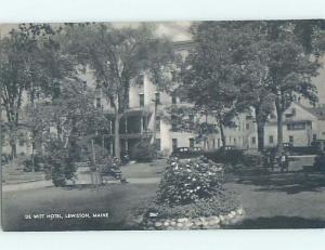 Pre-1952 HOTEL SCENE Lewiston Maine ME H0513