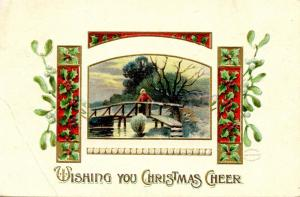 Greeting - Christmas.   *RPO- Wells River & Montpelier Railroad