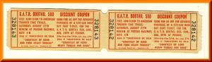 2 Vintage Pocono Raceway Tickets, GATR Bobtail 500, Pennsylvania/PA
