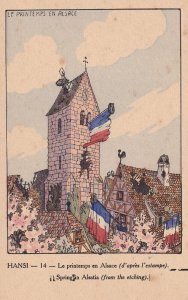 HANSI, France, 1910s; Spring In Alsatia From The Etching
