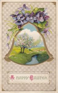 Happy Easter Landscape Scene