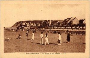 CPA ARROMANCHES - La Plage et les Tentes (383192)
