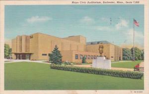 Minnesota Rochester Mayo Civic Auditorium 1940 Curteich