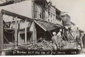 RP: BUNKERHILL , Illinois , 1948 ; Tornado , Mn St Day of Storm