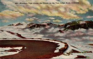 Colorado Mountain Tops Above The Clouds On The Trail Ridge Road