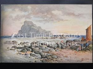 c1906 - Scotland: The Bass Rock - By Artist: S. Bowers