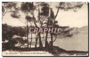 Old Postcard Toulon The rocks of St. Margaret