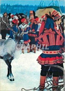Postcard Modern Suomen Lappi Finnish Lapland
