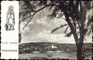 martinique, SAINTE-THERESE, Panorama (1950s) RPPC