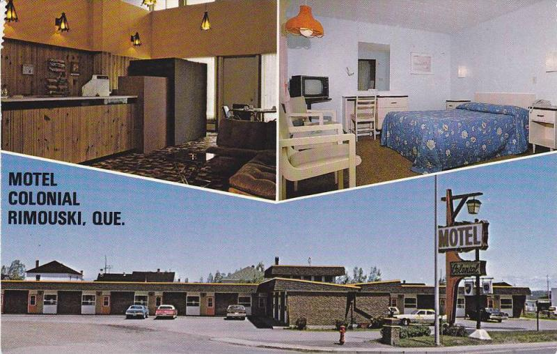 Motel Colonial , RIMOUSKI , Quebec, Canada , 50-70s