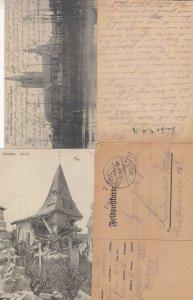German WW1 Four 4x Military War Antique Postcard s