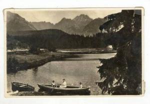 RP  Woman & 2 kids in Row boat, Hohe Tatra. Neu Csorbersee bei Hotel  MORY , ...