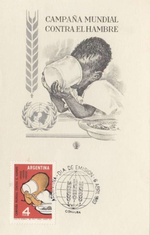 Argentina, 1963 ; Campana Mundial Contra El Hambre