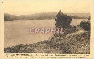 Old Postcard The Lake Issarles (Ardeche) alt 997 m) The Sphinx Rock Curious f...