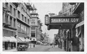 San Francisco CA Chinatown Shanghai Low Old Car R. P. O. Cancel Postcard
