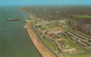 Blackpool From Manchester Airport Views 1970s Postcard