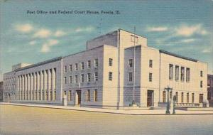 Illinois Peoria Post Office And Federal Court House 1941