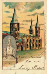Germany Stiftskirche zu Kaiserslautern Unions Denkmal Litho 03.41