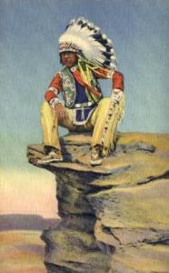 The Young Scout Indian, Indians, Postcard Post Cards  The Young Scout