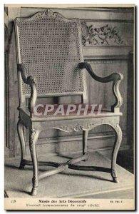 Old Postcard Musee des Arts Decoratifs Armchair