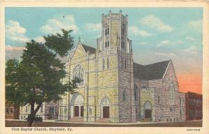 Mayfield Kentucky~First Baptist Church~1920s Postcard