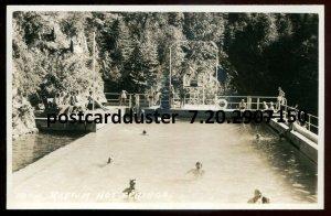 150 - RADIUM HOT SPRINGS BC 1930s Swimming Pool. Real Photo Postcard by B.Harmon