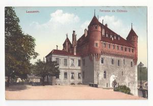 Switzerland Lausanne Terrasse du Chateau  E Rossier Vintage  Postcard ca 1910