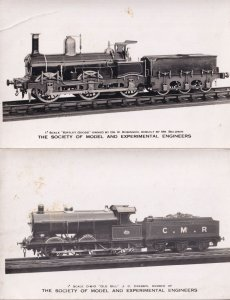 Old Bill Kirtley Class Society Of Model Engineers Train 2x Old RPC Postcard s