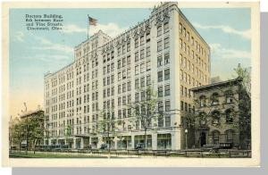 Cincinnati, Ohio/OH Postcard,Doctors Building,Race & Vine St