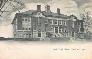 High School, Stamford, Connecticut, early postcard, undivided back, unused