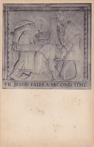 Jesus ; Stations of the Cross , Westminster Cathedral , VII. Jesus Falls a se...