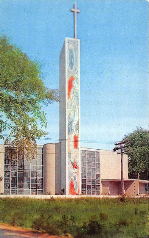 South Portland ME Holy Cross Church New in 1958 Tallest Mosaic in U.S.A Postcard