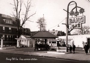 Bang Oil Co. Gas Service Station ca. 1910  (5.75 X 4 Photo Reprint)