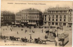 CPA ANGERS - Place du Ralliement - Hotel des Postes et Telegraphes (207987)