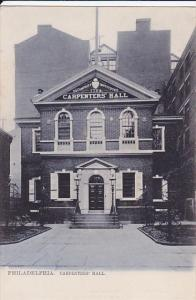 TUCK #1019, Carpenters´ Hall, PHILADELPHIA, Pennsylvania, 00-10s
