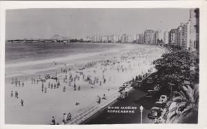 RIO DE JANEIRO, Brazil; Copacabana, Classic Cars, 30-50s