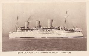 Oceanliner/Steamer/Ship, C.P. Liner Empress Of Britain, 42,500 Tons, 1910-20s
