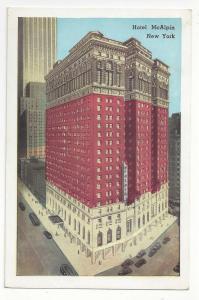 Hotel McAlpin New York City NY Vintage Postcard Lumitone
