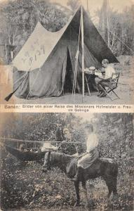 Missionaries Camping in the Mountains Real Photo Antique Postcard J67620