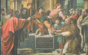 Raphael The Conversion Of The Proconsul Painting Postcard